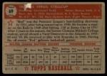 1952 Topps #69 RED Virgil Stallcup  Back Thumbnail