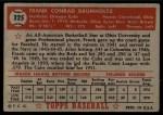 1952 Topps #225  Frank Baumholtz  Back Thumbnail