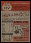 1953 Topps #159   Wayne Terwilliger Back Thumbnail