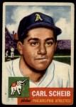 1953 Topps #57  Carl Scheib  Front Thumbnail