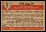1953 Bowman #37  Jimmy Wilson  Back Thumbnail