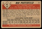 1953 Bowman #22   Bob Porterfield Back Thumbnail