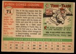 1955 Topps #71  Ruben Gomez  Back Thumbnail