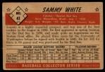 1953 Bowman #41  Sammy White  Back Thumbnail