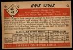 1953 Bowman #48  Hank Sauer  Back Thumbnail
