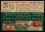 1954 Topps #143  Rollie Hemsley  Back Thumbnail