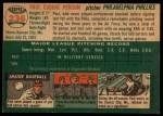 1954 Topps #236   Paul Penson Back Thumbnail