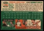 1954 Topps #136   Connie Ryan Back Thumbnail