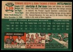 1954 #139  Ed O'Brien / John O'Brien  Back Thumbnail