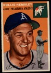 1954 Topps #143  Rollie Hemsley  Front Thumbnail