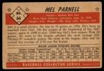 1953 Bowman #66   Mel Parnell Back Thumbnail