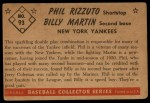 1953 Bowman #93  Billy Martin / Phil Rizzuto  Back Thumbnail