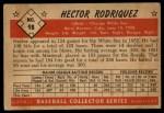1953 Bowman #98  Hector Rodriguez  Back Thumbnail