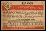 1953 Bowman #110   Bob Rush Back Thumbnail