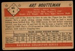 1953 Bowman #4  Art Houtteman  Back Thumbnail