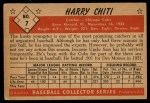 1953 Bowman #7  Harry Chiti  Back Thumbnail