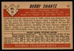 1953 Bowman #11  Bobby Shantz  Back Thumbnail