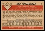 1953 Bowman #22  Bob Porterfield  Back Thumbnail