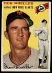 1954 Topps #42   Don Mueller Front Thumbnail