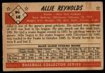 1953 Bowman #68   Allie Reynolds Back Thumbnail