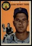 1954 Topps #163  Frank House  Front Thumbnail