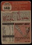 1953 Topps #148  Mickey Grasso  Back Thumbnail