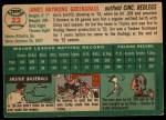 1954 Topps #22   Jim Greengrass Back Thumbnail