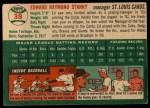1954 Topps #38   Eddie Stanky Back Thumbnail