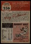 1953 Topps #236   Harry Perkowski Back Thumbnail