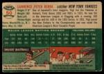 1954 Topps #50   Yogi Berra Back Thumbnail