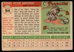 1955 Topps #94   Reno Bertoia Back Thumbnail