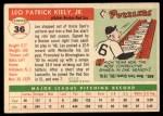 1955 #36  Leo Kiely  Back Thumbnail