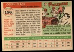 1955 Topps #156   Joe Black Back Thumbnail