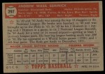 1952 Topps #297   Andy Seminick Back Thumbnail