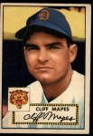 1952 #103  Cliff Mapes  Front Thumbnail