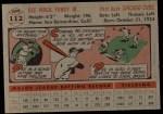 1956 Topps #112  Dee Fondy  Back Thumbnail