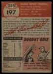 1953 Topps #197   Del Crandall Back Thumbnail