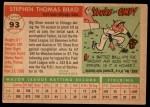 1955 Topps #93   Steve Bilko Back Thumbnail