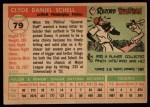 1955 Topps #79   Danny Schell Back Thumbnail