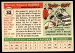 1955 Topps #32   Ed McGhee Back Thumbnail