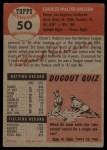 1953 Topps #50   Chuck Dressen Back Thumbnail