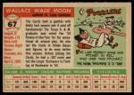 1955 Topps #67 ERR Wally Moon  Back Thumbnail