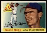 1955 Topps #67 ERR Wally Moon  Front Thumbnail