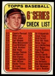 1969 Topps #504  Checklist 6  -  Brooks Robinson Front Thumbnail