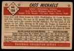 1953 Bowman #130   Cass Michaels Back Thumbnail