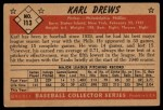 1953 Bowman #113   Karl Drews Back Thumbnail