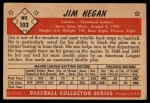 1953 Bowman #102  Jim Hegan  Back Thumbnail