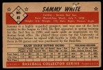 1953 Bowman #41   Sammy White Back Thumbnail