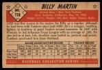 1953 Bowman #118  Billy Martin  Back Thumbnail