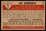 1953 Bowman #21  Joe Garagiola  Back Thumbnail